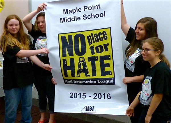 Maple Point gets No Place for Hate designation