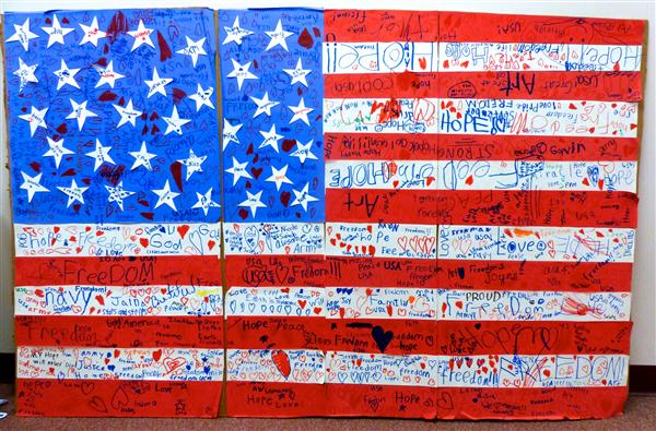 Students create 9/11 art for memorial