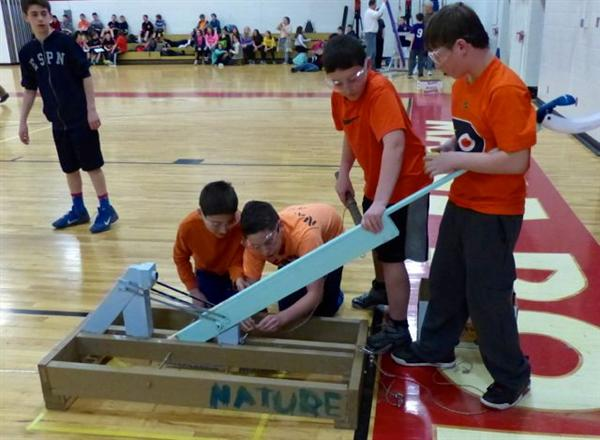Catapult competition at Maple Point