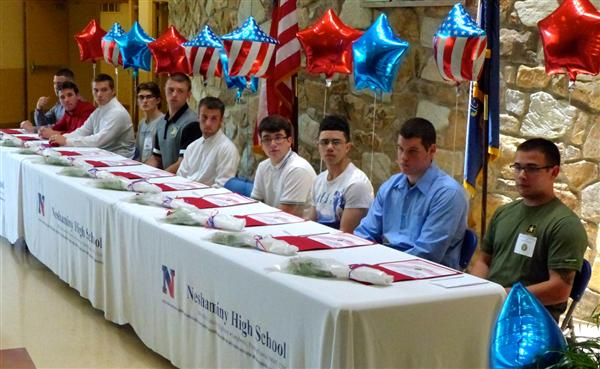 Ceremony honors military bound NHS seniors