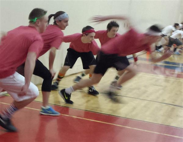 Charity holiday dodge ball tourney at NHS