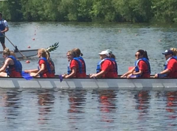 NSD staff Dragon Boat team competes in fundraiser