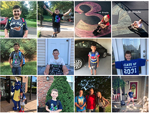 Photos of students on the first day of school