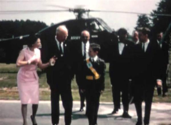 Film depicts a 1964 Eisenhower visit to a Levittown school