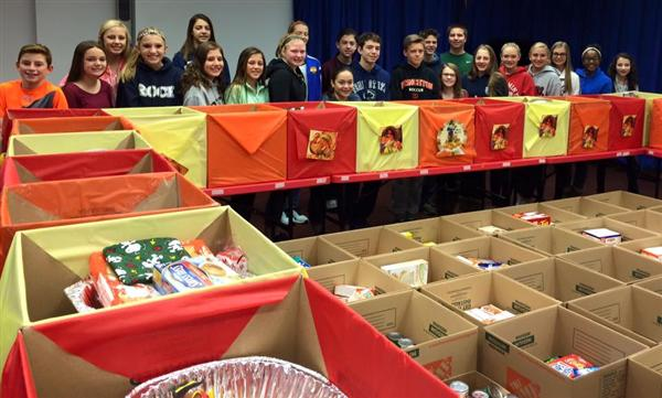 Middle School Thanksgiving food drives