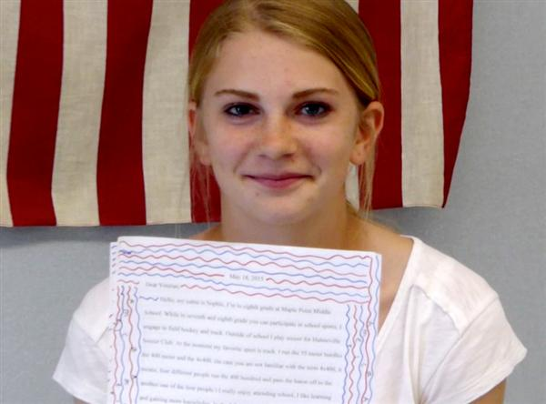 Maple Point team writes letters to Veterans