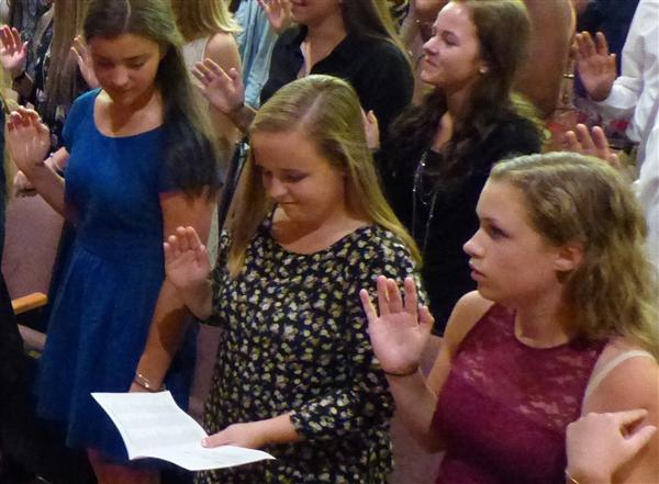102 students inducted into National Honor Society