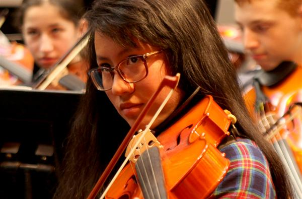 NHS, middle schools orchestras practice