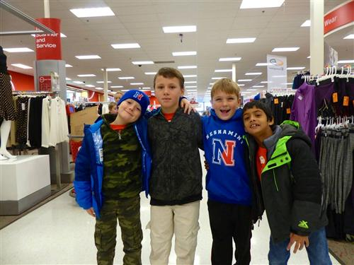 Miller students at Target