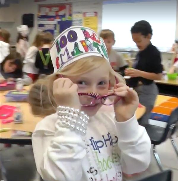 Tawanka celebrates 100 days of school