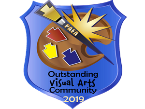 Outstanding Visual Arts Community 2019 badge