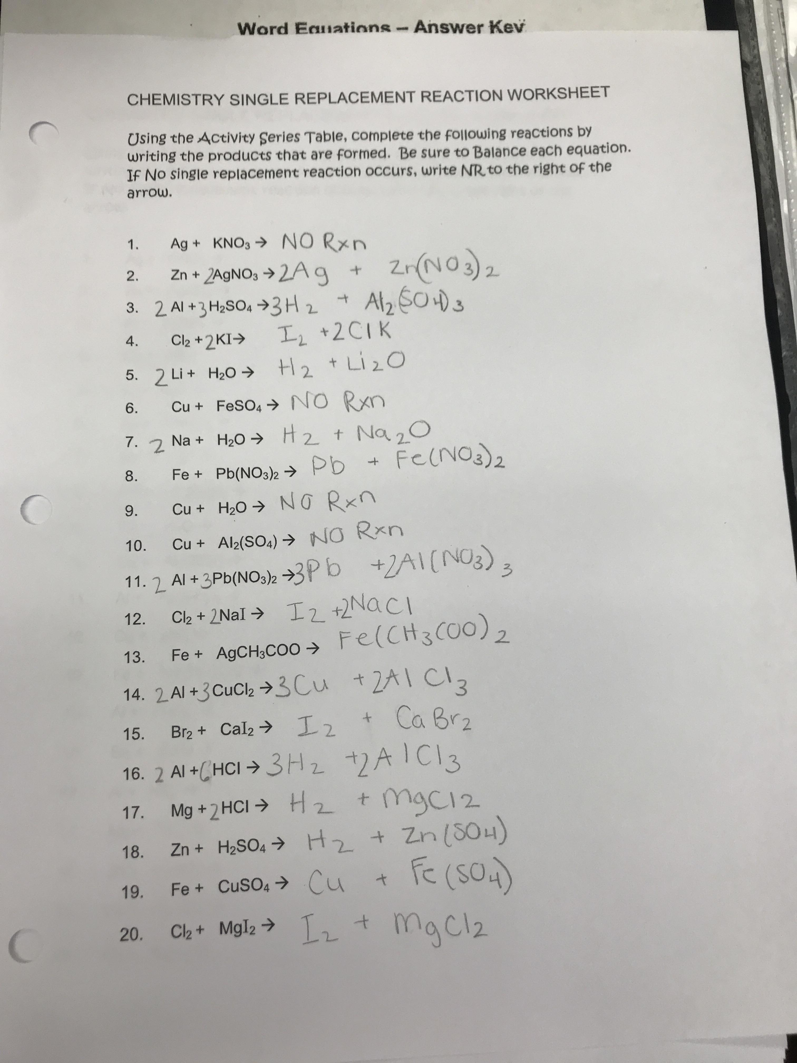 Bader  Mr  K    Honors Chem Homework