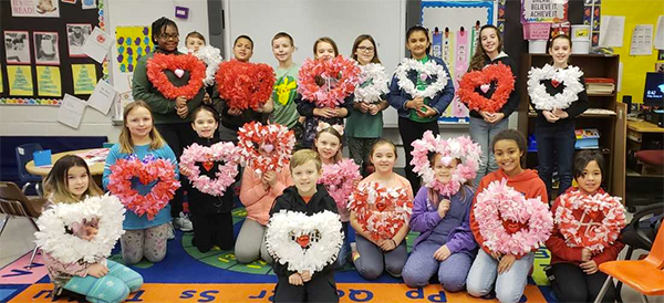 Heart wreath project