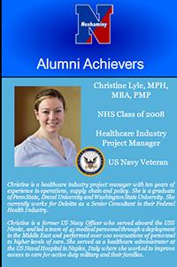 Alumni Achievers video monitor screen photo