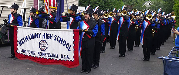 Marching Band in Langhorne Parade
