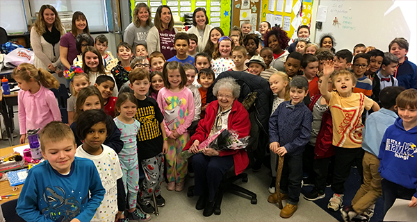 Hoover centenarian visit