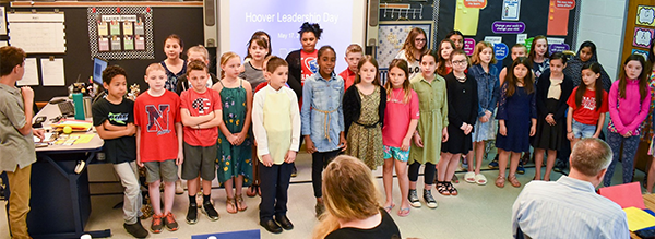 Hoover students sing during Leadership Day