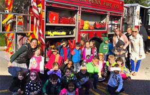 Fire company visits Hoover Elementary