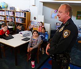 Police officer at Walter Miller ES