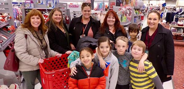 Miller students shopping at Target