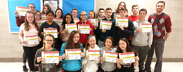 Maple Point students with BCIT certificates