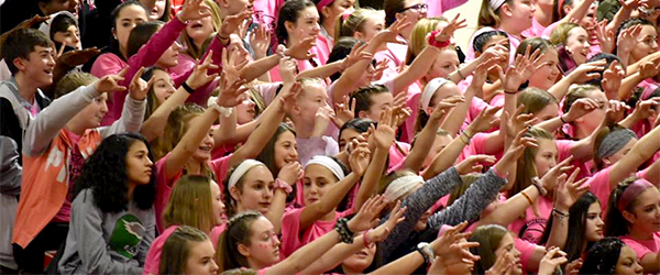 Coaches vs. Cancer crowd