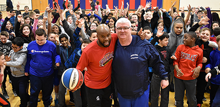 Harlem Wizards visit to Maple Point MS