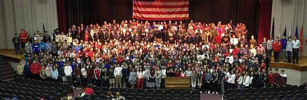 Veterans ceremony group photo