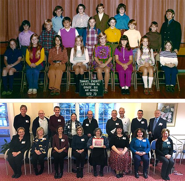 Class photos of Harry Myrga's students