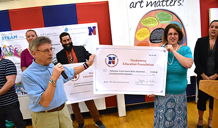 NEF donation at the District Art Show