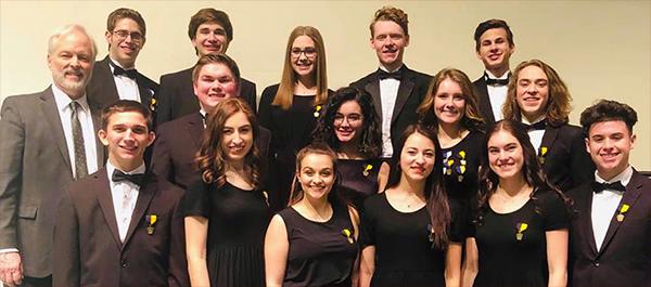 Neshaminy HS Choir members