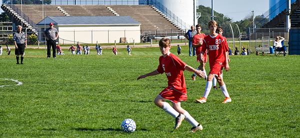 Soccer game at Neshaminy High School fields