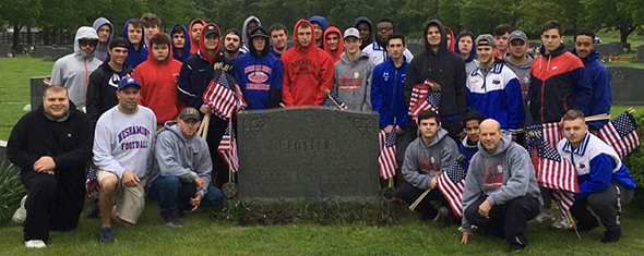 Redskins decorate veterans graves