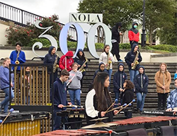 NHS Band performs in New Orleans