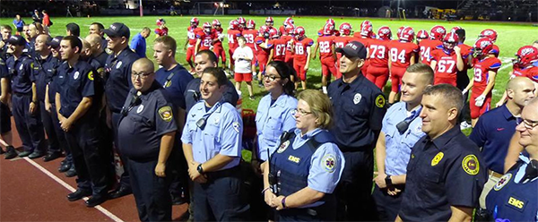 First Responders at NHS football game