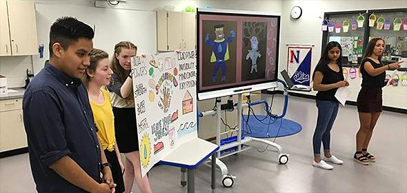 NHS science project presentation at Tawanka