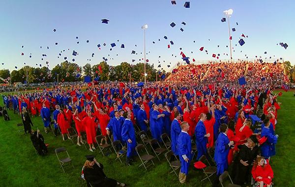 Neshaminy High School graduation ceremony