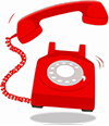 Graphic of a telephone ringing