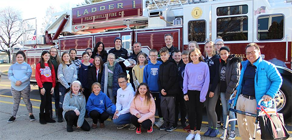 Poquessing delivers cookies to firefighters