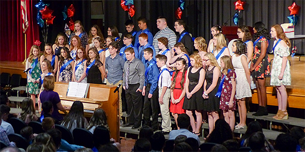 Poquessing Choir at the Move-Up Ceremony