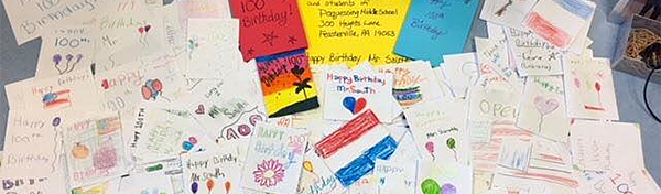 Student letters at Poquessing Middle School