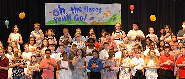 Fourth grade move-up ceremony