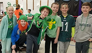 Schweitzer Lucky Leprechaun celebration