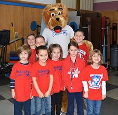 Schweitzer group with mascot