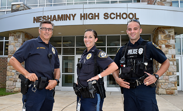 School Resource Officers outside Neshaminy HS