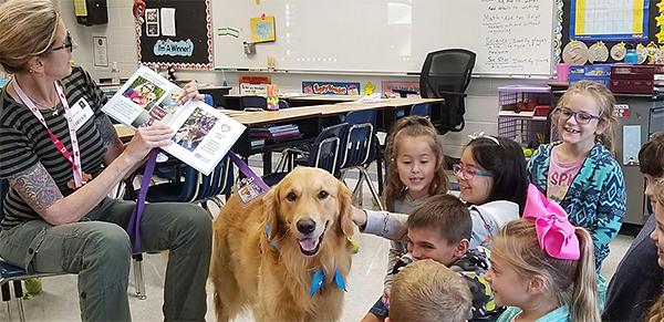 Dog visits Tawanka class