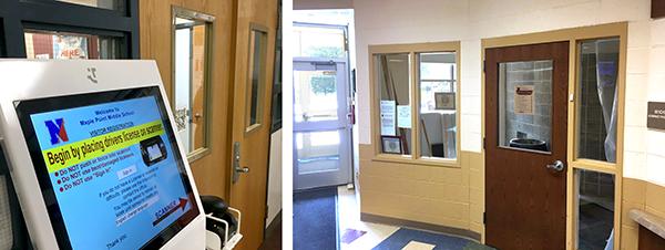 Security vestibules at Maple Point and Neshaminy HS