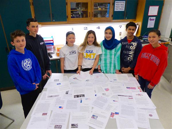 8th grade writes letters to veterans