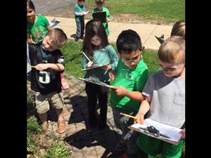 Earth Day activity at Buck ES