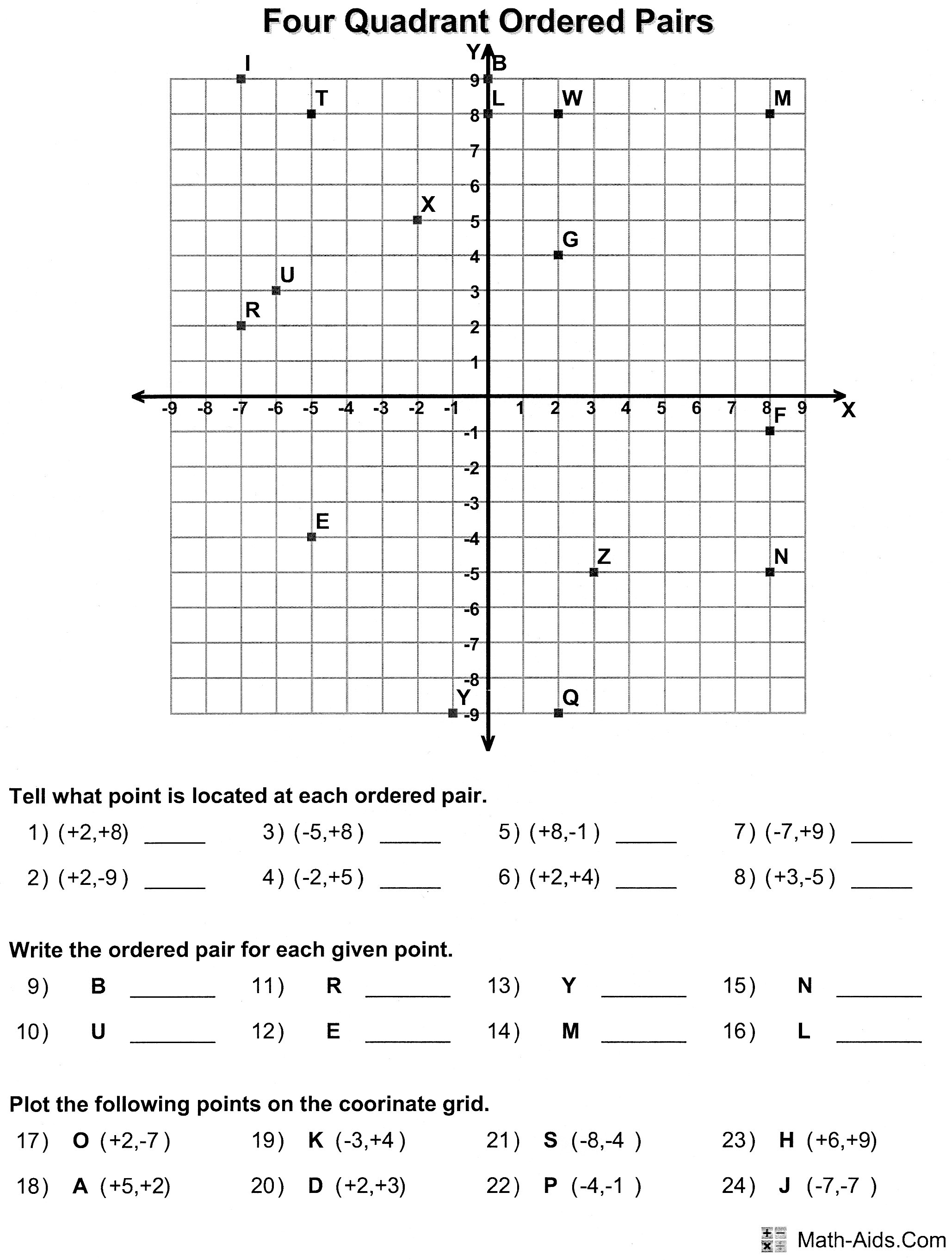 Plotting Ordered Pairs Worksheets Free Worksheets Library – Ordered Pair Worksheets